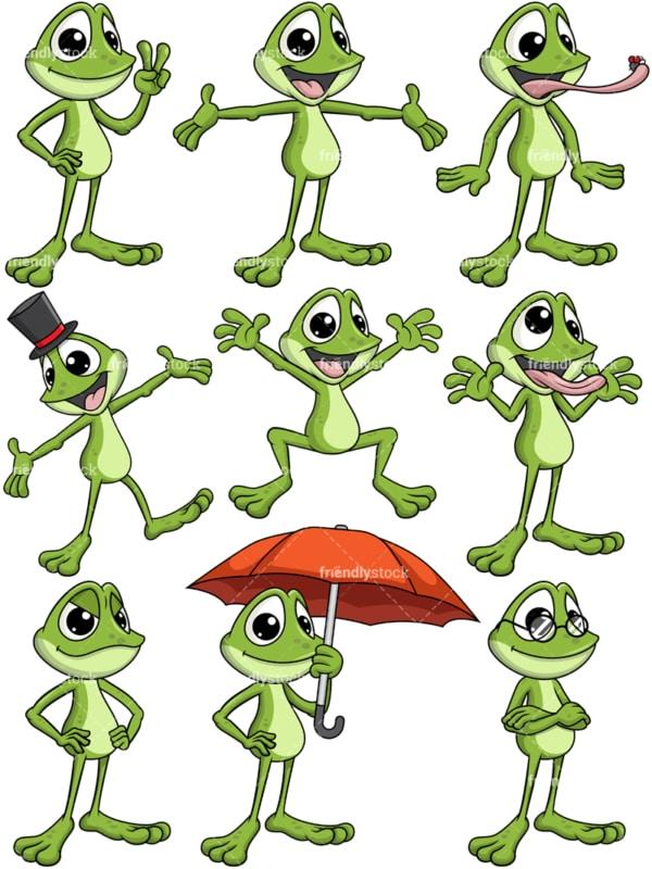 Frog mascot. Transparent PNG