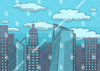 Modern City Skyline Vector Background