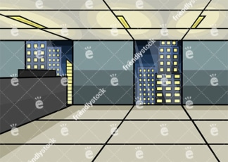 Empty Office At The City Centre Vector Background