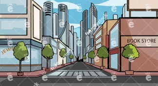 Downtown A Modern Metropolitan City Vector Background