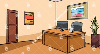 Empty Office Reception Desk Vector Background