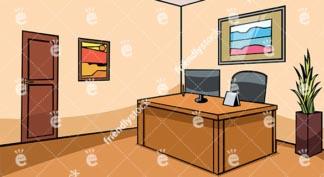 Empty Office Reception Desk Vector Background