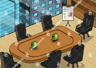 Executive meeting room background in 16:9 aspect ratio. PNG - JPG and vector EPS file formats (infinitely scalable).