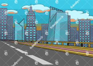 Empty city highway background in 16:9 aspect ratio. PNG - JPG and vector EPS file formats (infinitely scalable).