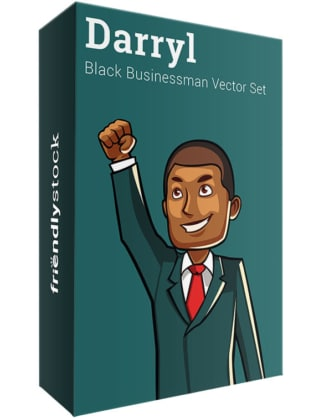 Darryl The Black Businessman Vector Bundle
