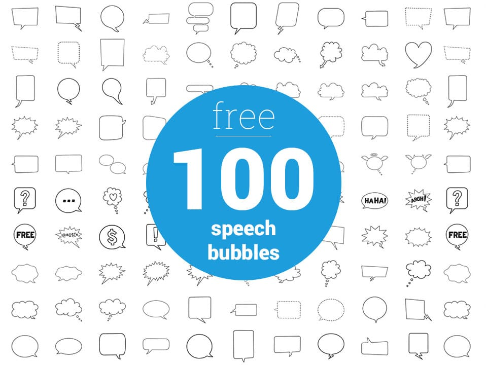 100 Free Chat Bubbles