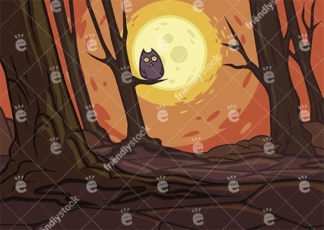 Barren forest with dead trees background in 16:9 aspect ratio. PNG - JPG and vector EPS file formats (infinitely scalable).