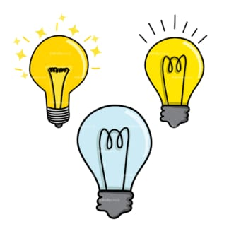 Light bulbs. PNG - JPG and vector EPS file formats (infinitely scalable). Image isolated on transparent background.