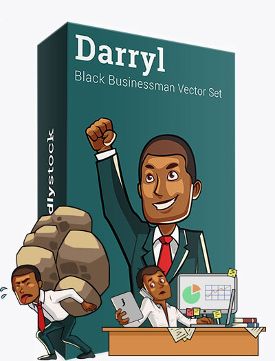 Darryl The Black Businessman Vector Graphics Teaser