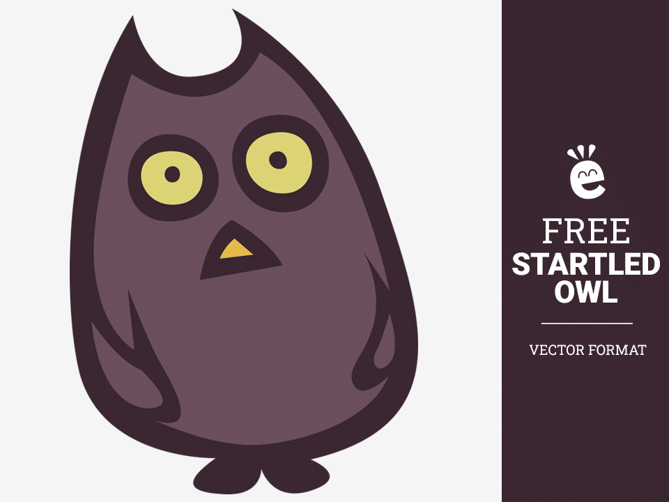 Startled Owl - Free Vector Graphic