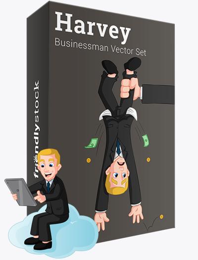 Harvey The Businessman Vector Graphics Teaser