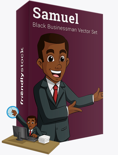 Samuel The Black Businessman Vector Graphics Teaser