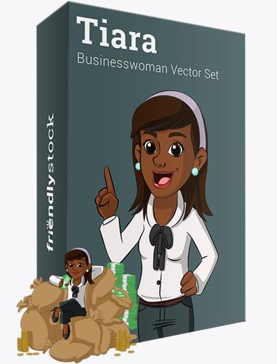 Tiara The Black Businesswoman Vector Graphics Teaser