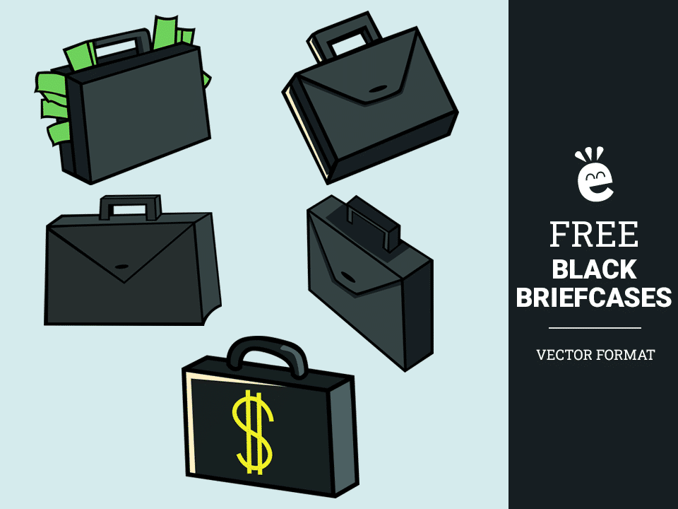 Black Briefcases - Free Vector Graphics