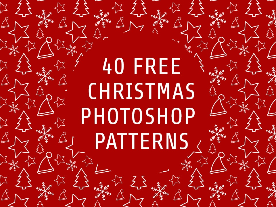 40 Free Christmas Photoshop Patterns