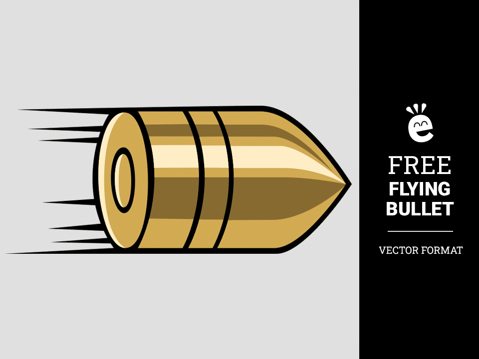 Flying Bullet - Free Vector Graphic