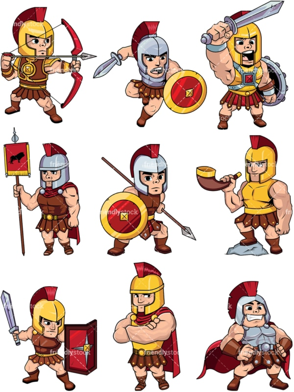 Roman soldiers and centurions. PNG - JPG and vector EPS file formats (infinitely scalable). Image isolated on transparent background.