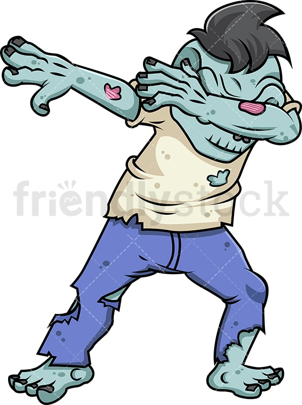 Male zombie doing the dab. PNG - JPG and vector EPS file formats (infinitely scalable).