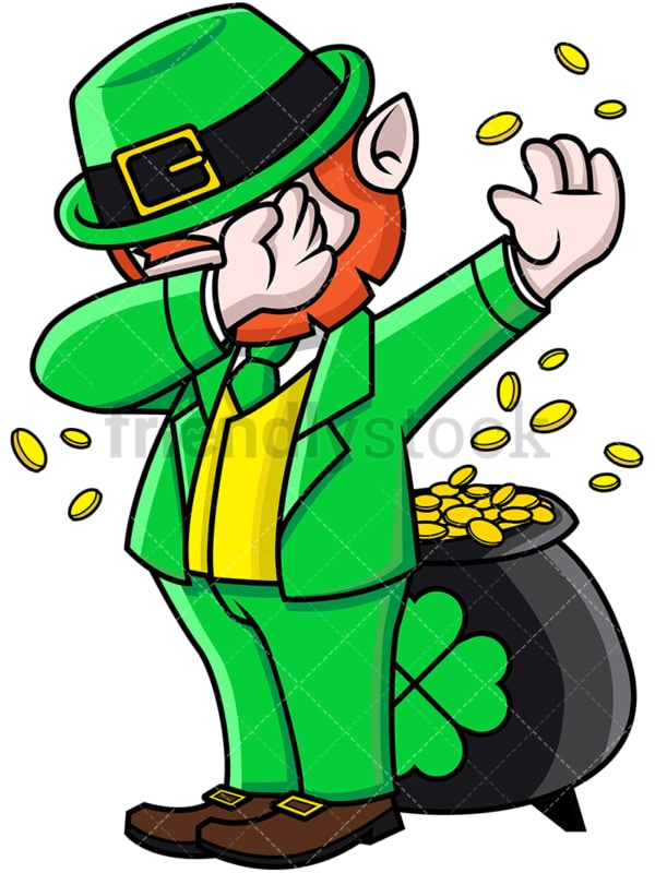 Leprechaun doing the dab. PNG - JPG and vector EPS file formats (infinitely scalable).