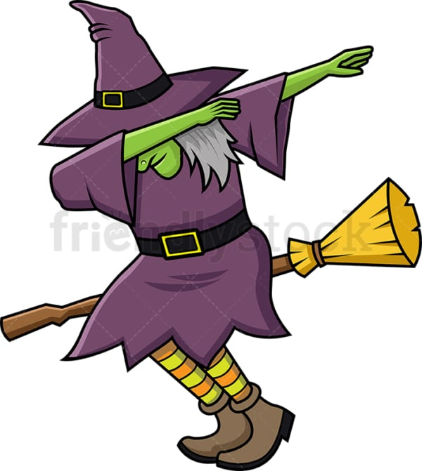 Evil witch doing the dab. PNG - JPG and vector EPS file formats (infinitely scalable).