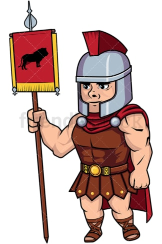 Roman legionary battle flag standard. PNG - JPG and vector EPS (infinitely scalable). Image isolated on transparent background.