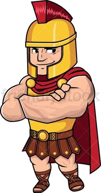 Muscular and confident roman general. PNG - JPG and vector EPS (infinitely scalable). Image isolated on transparent background.