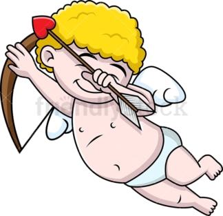 Cupid doing the dab. PNG - JPG and vector EPS file formats (infinitely scalable).