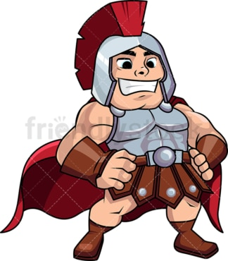 Roman general standing victorious. PNG - JPG and vector EPS (infinitely scalable). Image isolated on transparent background.