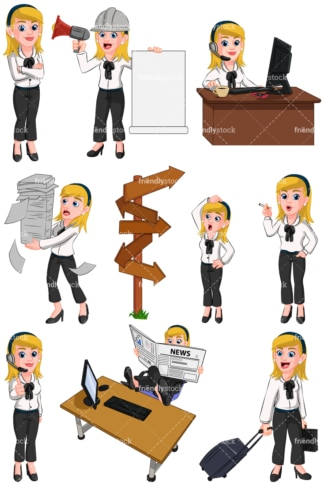 Business woman - Images isolated on transparent background. PNG