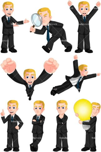 Businessman collection no3 - Images isolated on transparent background. PNG
