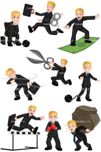 Businessman collection no4 - Images isolated on transparent background. PNG
