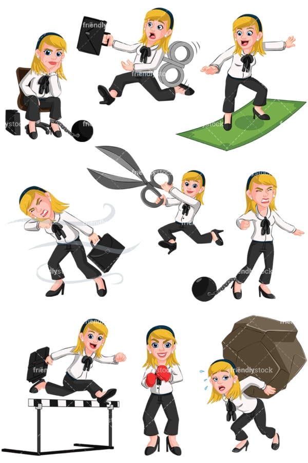 Businesswoman collection no4 - Images isolated on transparent background. PNG