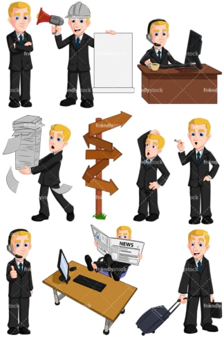 Business man - Images isolated on transparent background. PNG