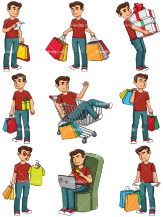 Man shopping - Images isolated on transparent background. PNG