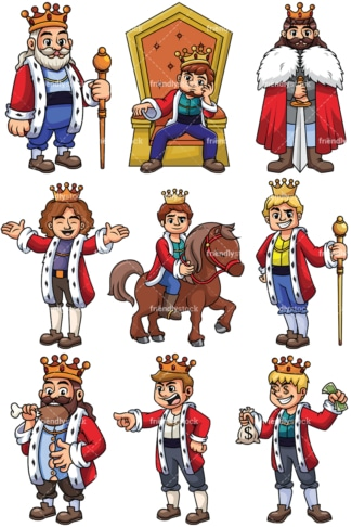 Medieval kings - Images isolated on transparent background. PNG