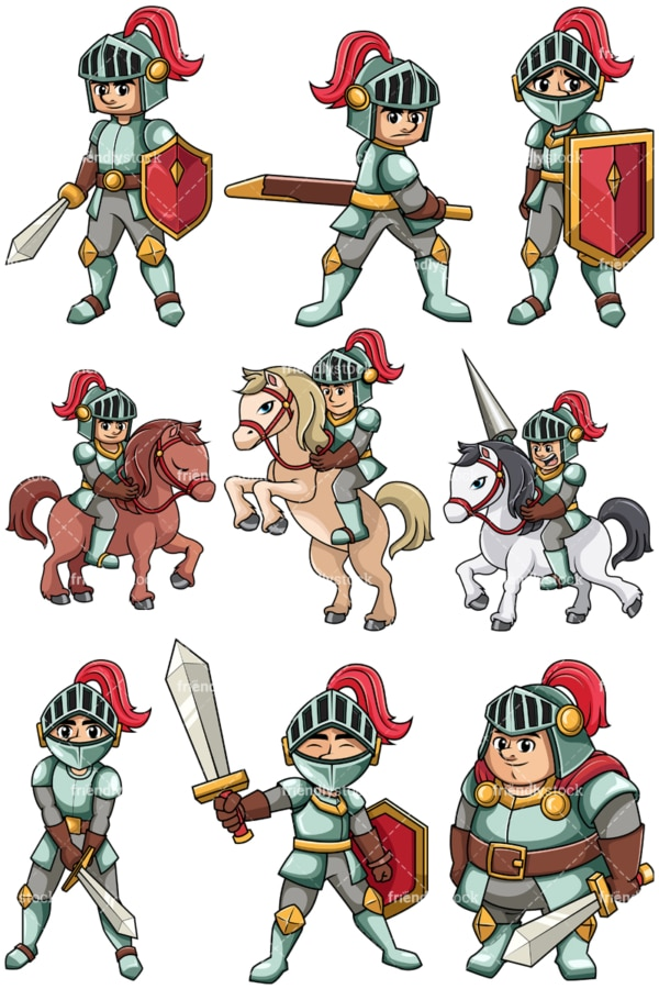 Medieval knight. PNG - JPG and vector EPS file formats (infinitely scalable). Image isolated on transparent background.
