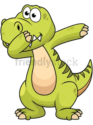 Dabbing dinosaur - Image isolated on white background. Transparent PNG and vector (infinitely scalable) EPS