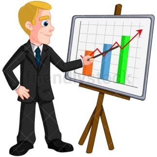 Business man giving presentation - Image isolated on transparent background. PNG