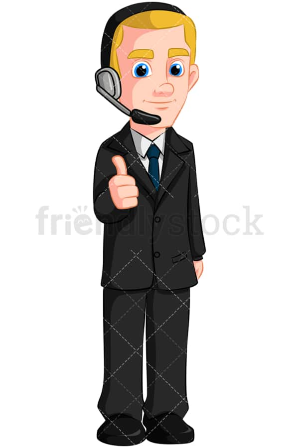 Business man wearing headset - Image isolated on transparent background. PNG