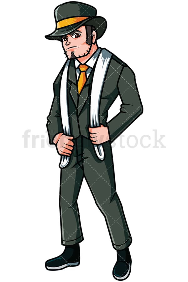 Gangster from the 1920s - Image isolated on transparent background. PNG