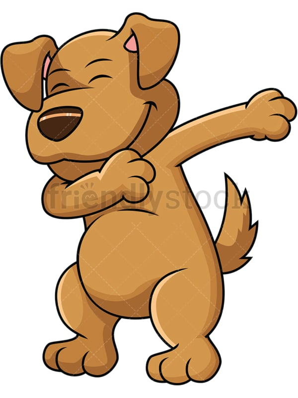 Dabbing dog - Image isolated on white background. Transparent PNG and vector (infinitely scalable) EPS