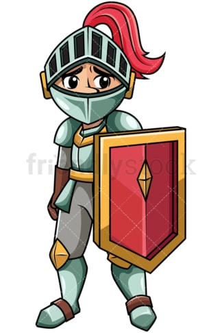 Defeated humiliated knight. PNG - JPG and vector EPS file formats (infinitely scalable). Image isolated on transparent background.