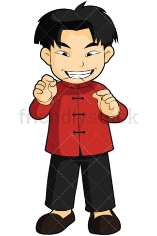 Asian boy flossing his teeth - Image isolated on transparent background. PNG