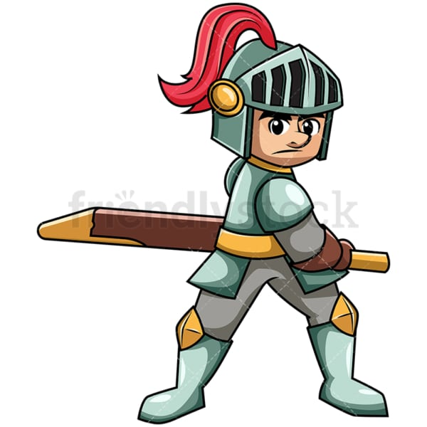 Medieval warrior pulling sword. PNG - JPG and vector EPS file formats (infinitely scalable). Image isolated on transparent background.