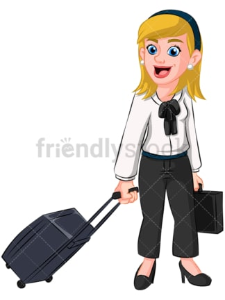 Business woman traveling - Image isolated on transparent background. PNG
