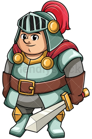 Fat knight. PNG - JPG and vector EPS file formats (infinitely scalable). Image isolated on transparent background.