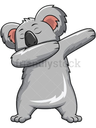Dabbing koala bear - Image isolated on white background. Transparent PNG and vector (infinitely scalable) EPS