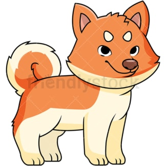 Cute akita puppy. PNG - JPG and vector EPS file formats (infinitely scalable). Image isolated on transparent background.