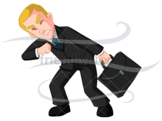 Business man having trouble - Image isolated on transparent background. PNG