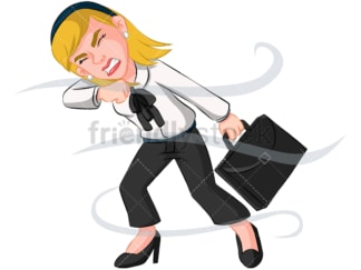 Business woman facing problems - Image isolated on transparent background. PNG